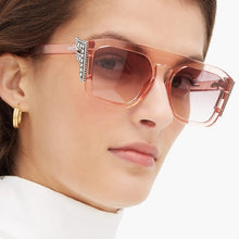 Load image into Gallery viewer, Fendi 0381/S Freedom Crystal Logo Sunglasses in Pink