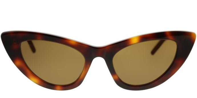 Saint Laurent Lily SL213 Cat Eye Sunglasses in Brown