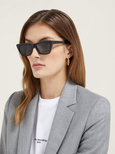 Stella McCartney SC0188S Falabella Cat Eye Chain Sunglasses in Black