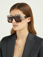 Load image into Gallery viewer, Gucci 0484S Snakeskin Oversized Sunglasses in Dark Brown