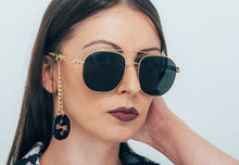 Load image into Gallery viewer, Gucci GG0727S Earring Chain Oversized Sunglasses Grey Lens