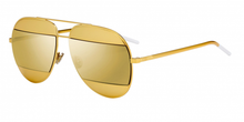 Load image into Gallery viewer, Dior Split 1 Aviator Sunglasses in Gold/Gold Mirrored