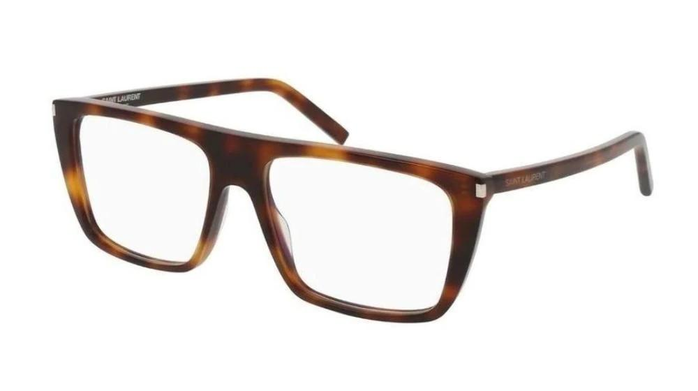 Saint Laurent SL155 Eyeglasses Frames in Brown