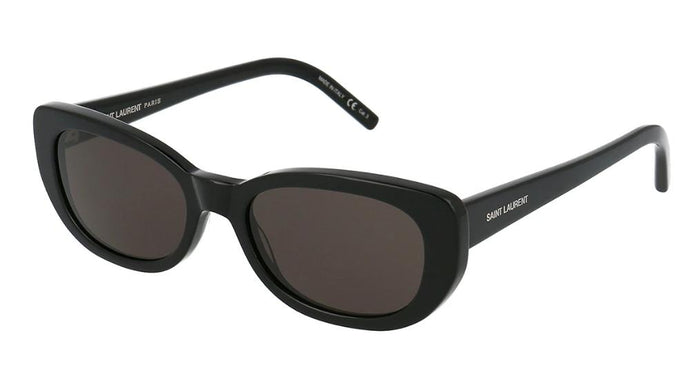 Saint Laurent SL316 Betty Oval Sunglasses in Black