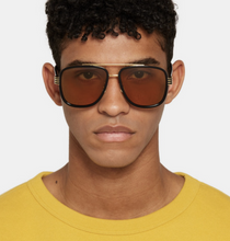 Load image into Gallery viewer, Gucci 0448S Black Square Aviator Sunglasses