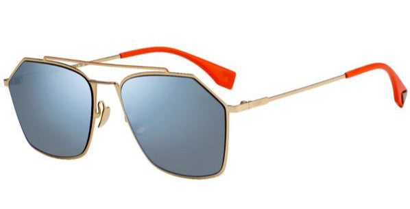 Fendi FFM0022/S Eyeline Aviator Sunglasses in Blue Mirrored
