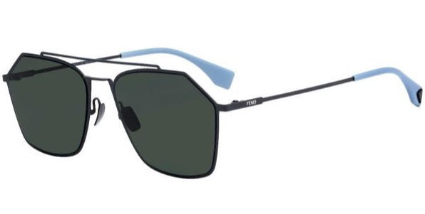 Fendi FFM0022/S Eyeline Aviator Sunglasses in Black