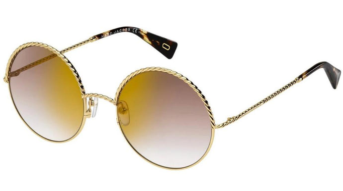 Marc Jacobs 169S Mirrored Gold Round Sunglasses