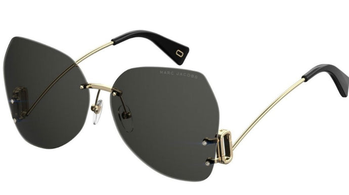 Marc Jacobs 373S Rimless Low Leg Sunglasses in Black