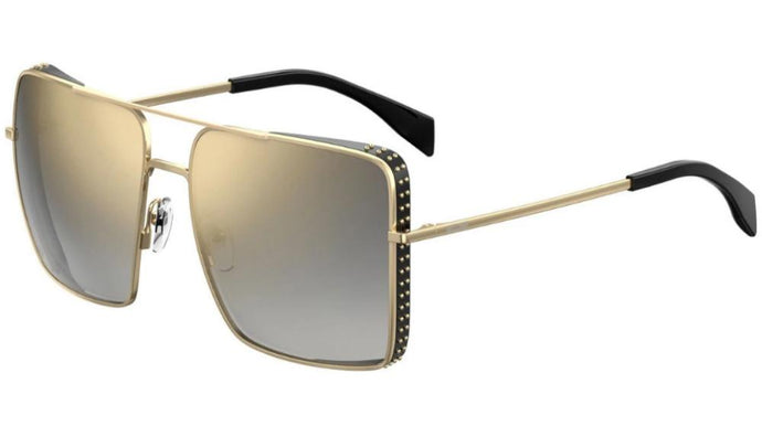 Moschino 020/S Flat Top Aviator Sunglasses in Gold