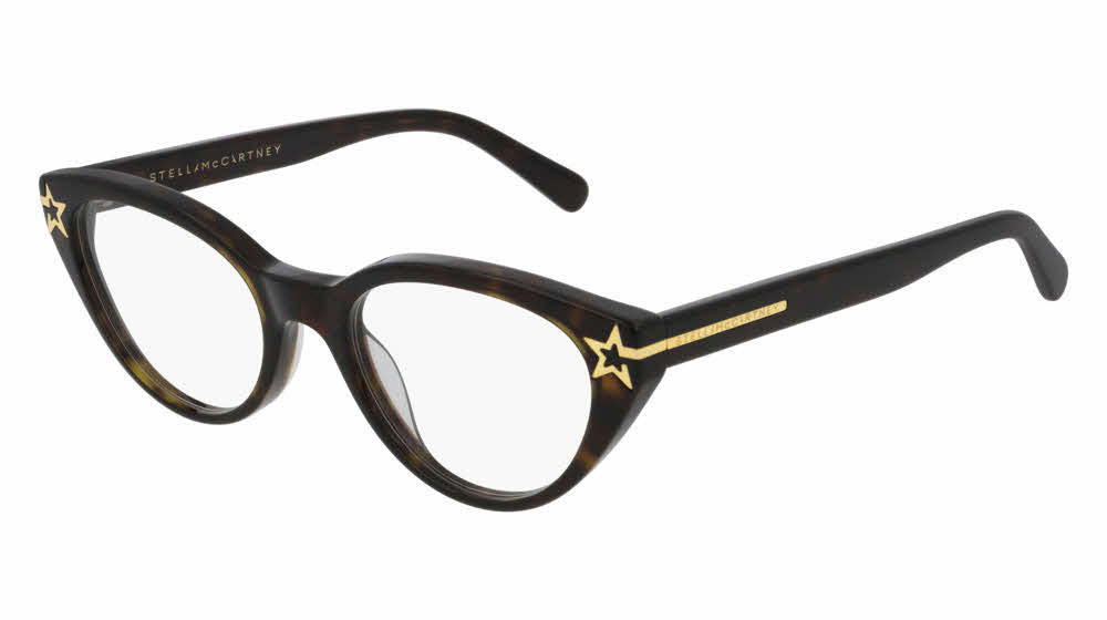 Stella McCartney SC0224O Havana Brown Cat Eye Star Eyeglasses Frames