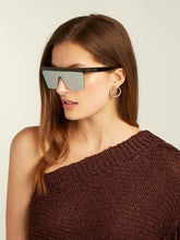 Load image into Gallery viewer, Stella McCartney SC0148S Mirrored Shield Sunglasses in Silver