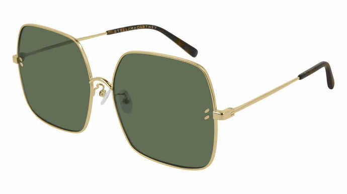 Stella McCartney SC0158S Square Metal Sunglasses in Green Lens