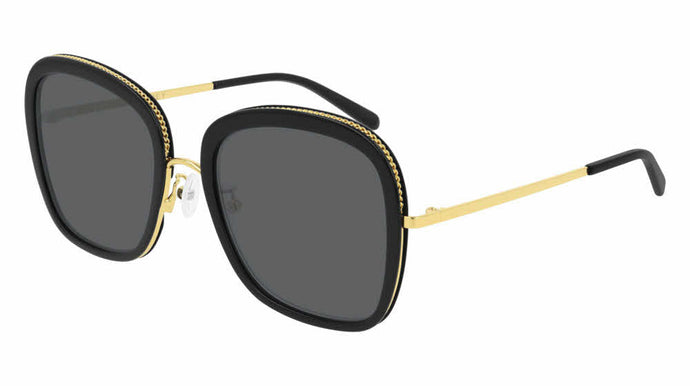 Stella McCartney SC0206S Black Squared Chain Sunglasses