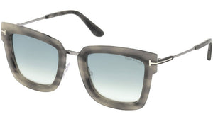 Tom Ford Lara Metal Square Sunglasses in Mirrored Grey