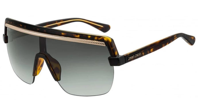 Jimmy Choo Pose Chain Shield Sunglasses in Grey