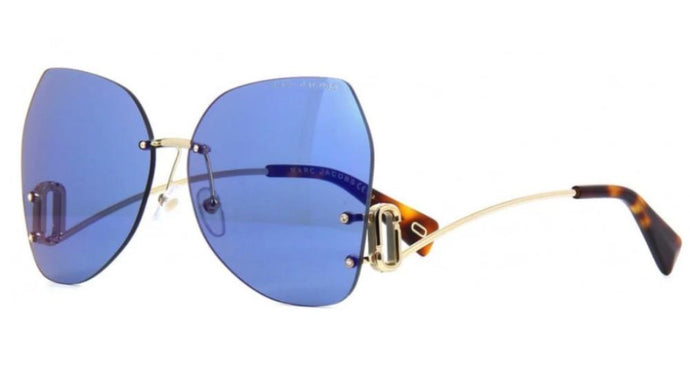 Marc Jacobs 373S Rimless Low Leg Sunglasses in Blue