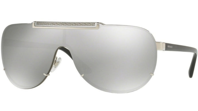 Versace 2140 Shield Sunglasses in Silver Mirror