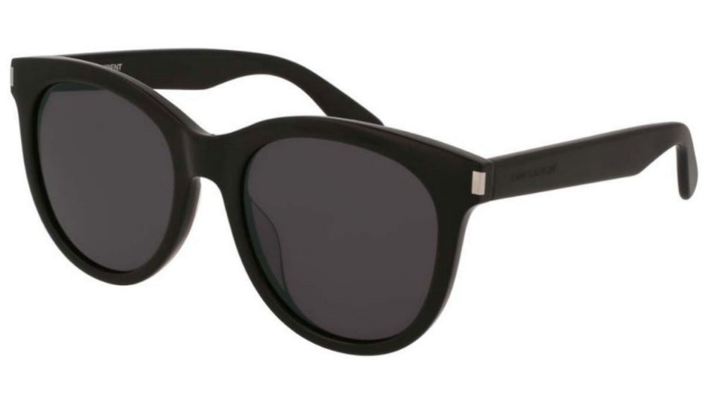 Saint Laurent SL101/K Black Rounded Sunglasses
