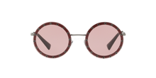 Load image into Gallery viewer, Valentino 2010 Bordeaux Crystal Studded Round Sunglasses