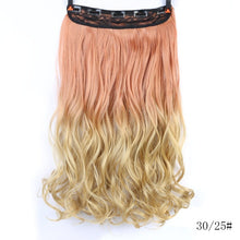 Load image into Gallery viewer, Long Straight Clip in one Piece Synthetic Hair Extension