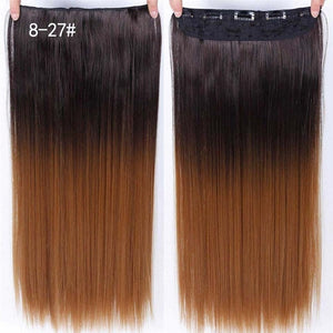 Long Straight Clip in one Piece Synthetic Hair Extension