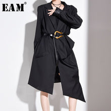 Load image into Gallery viewer, EAM Long Pleated Trench Dress