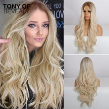 Load image into Gallery viewer, TONY Wavy Brown to Light Blonde Wig