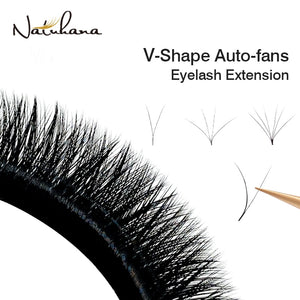 V Shape Auto-Fans Eyelash Extension