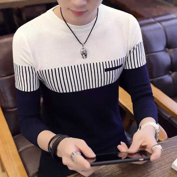 Striped Casual Sweater (3 colors)