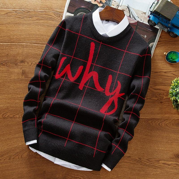 Letter Printed Sweater (3 colors)