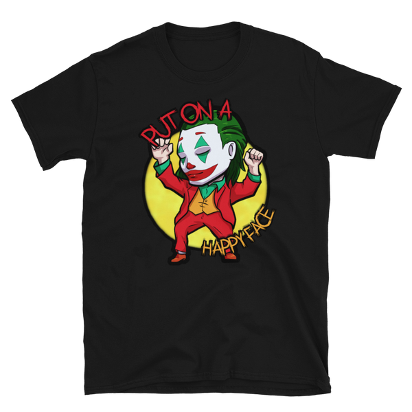 "JOKER DANCING CHIBI ""PUT ON A HAPPY FACE"" T-Shirt"