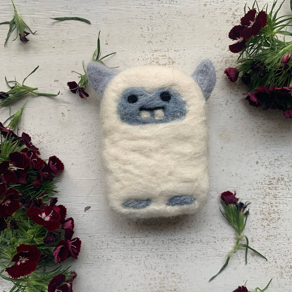 Felted Soap Saver - Yeti