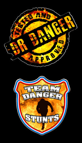 DR DANGER/TEAM DANGER STICKER SET