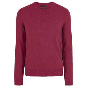 Mens Pure Cotton V Neck Jumper (ex store order)