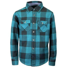 Load image into Gallery viewer, Boys Long Sleeve Cotton Flannel Check Shirt