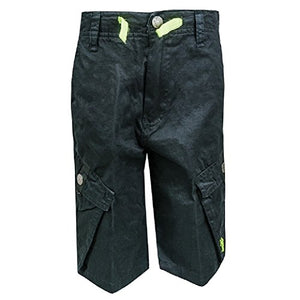 Boys Black U.S.Polo Assn Original Cotton Cargo Relaxed Fit Shorts