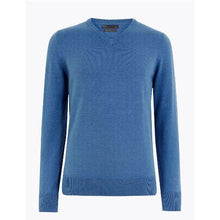 Load image into Gallery viewer, Mens Pure Cotton V Neck Jumper (ex store order)