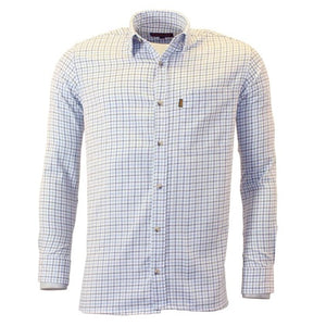 Blue Game Tattersall Long Sleeve Collared Check Shirt