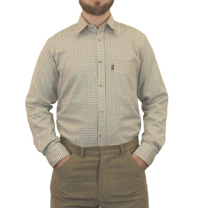 Brown & Green Game Tattersall Long Sleeve Check Shirt