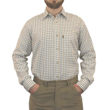 Load image into Gallery viewer, Brown & Navy Game Tattersall Long Sleeve Check Shirt