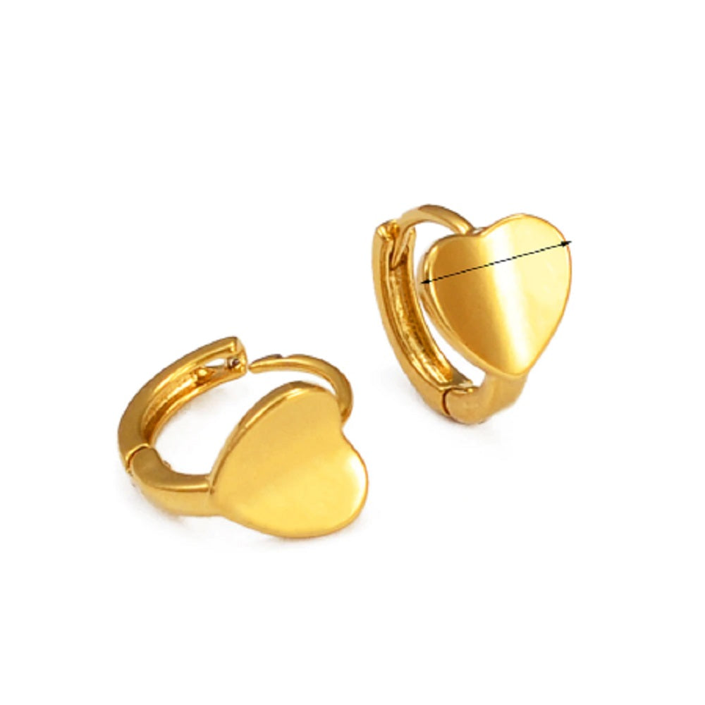 Small Heart Inner Click Lock Hoop Casual Earrings
