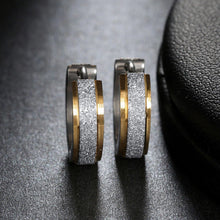 Load image into Gallery viewer, Gold & Silver Titanium Steel Anti-Allergic Small Hoop Earrings