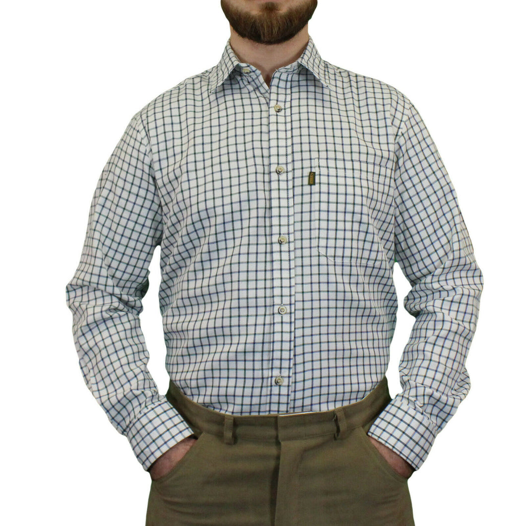 Green Game Tattersall Long Sleeve Check Shirt