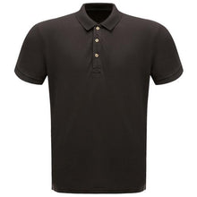 Load image into Gallery viewer, Mens Black Regatta Cotton Polo Short Sleeve Shirt
