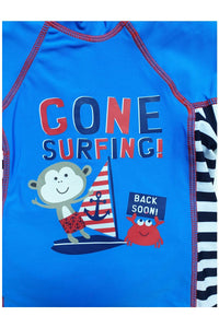 Blue & Red Cone Surfing Safe UV40 Swimming Set