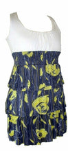 Load image into Gallery viewer, Cream and Yellow Multi Floral Print Short Dress