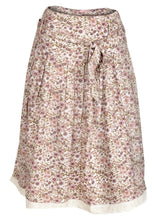 Load image into Gallery viewer, Beige Multi Blosson Floral A-Line Skirt