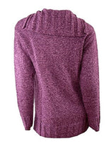Load image into Gallery viewer, Purple Real Comfort Large Collar Tie Neck Jumper