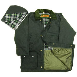 Boys Girls Waterproof Quilted Wax Cotton Jacket